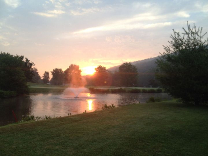 Sunset at the course