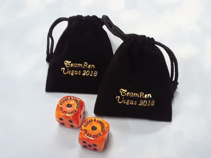Personalized Dice & Bag
