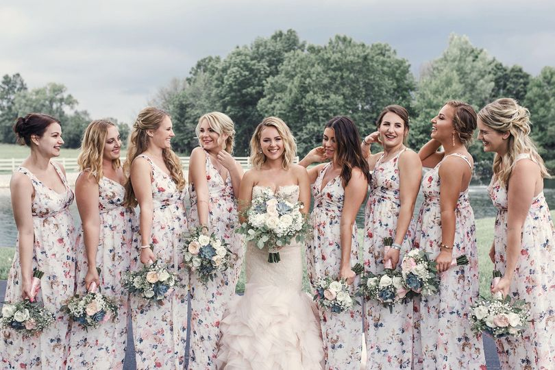 Beautiful floral bridesmaids