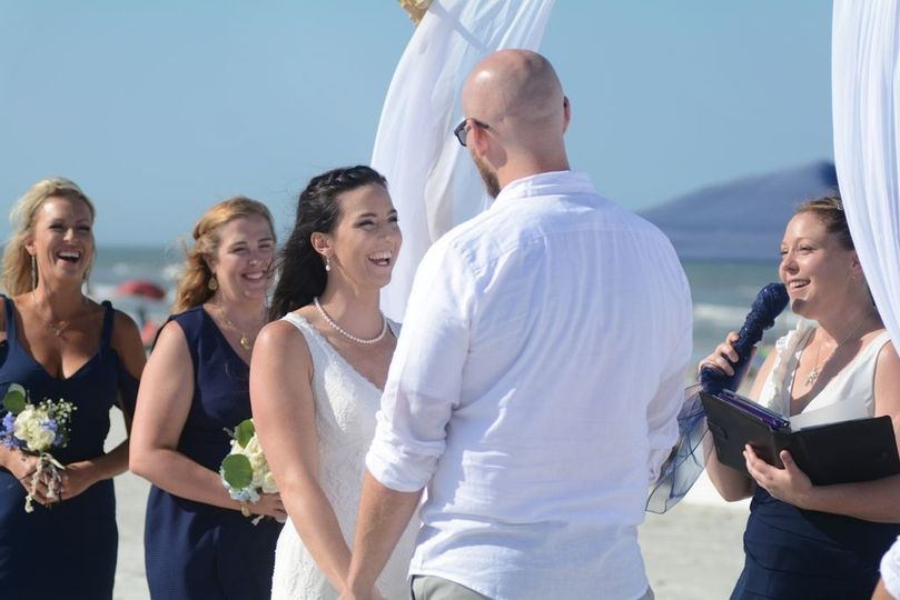 Smiles at the ceremony