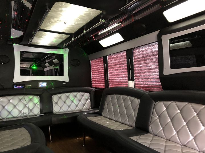 Tmx Black Limo Bus Inside Driver Side Back Interior 060719 51 127950 160277937641679 Swanzey, NH wedding transportation