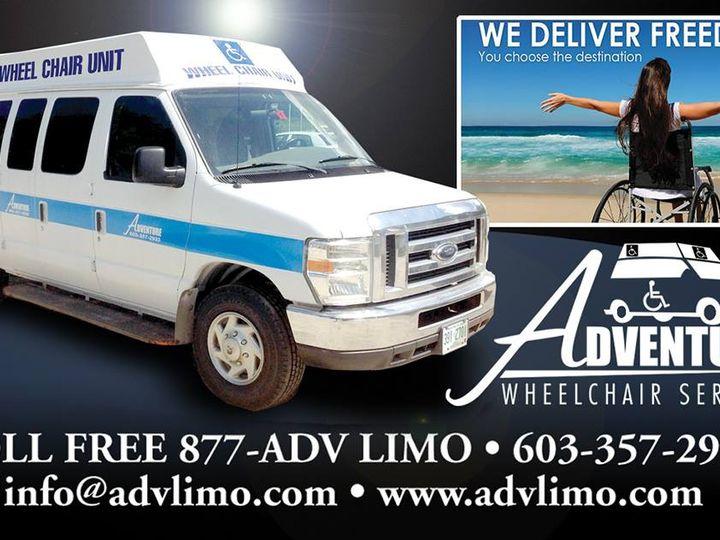 Tmx Wheelchair Business Card 0118 51 127950 160277992769880 Swanzey, NH wedding transportation