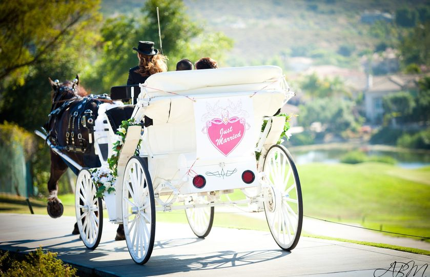 Bridal carriage in Ceremony