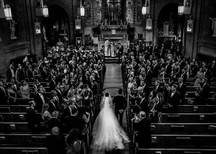 Epic cathedral ceremony