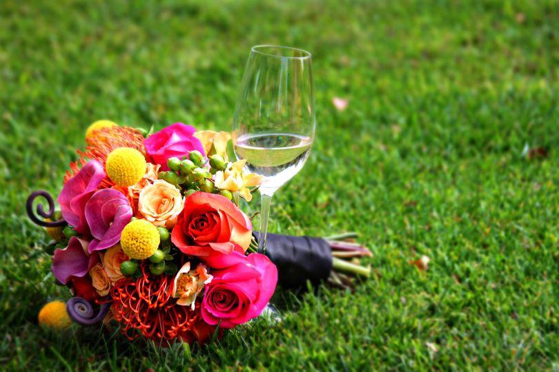 Colored bouquet