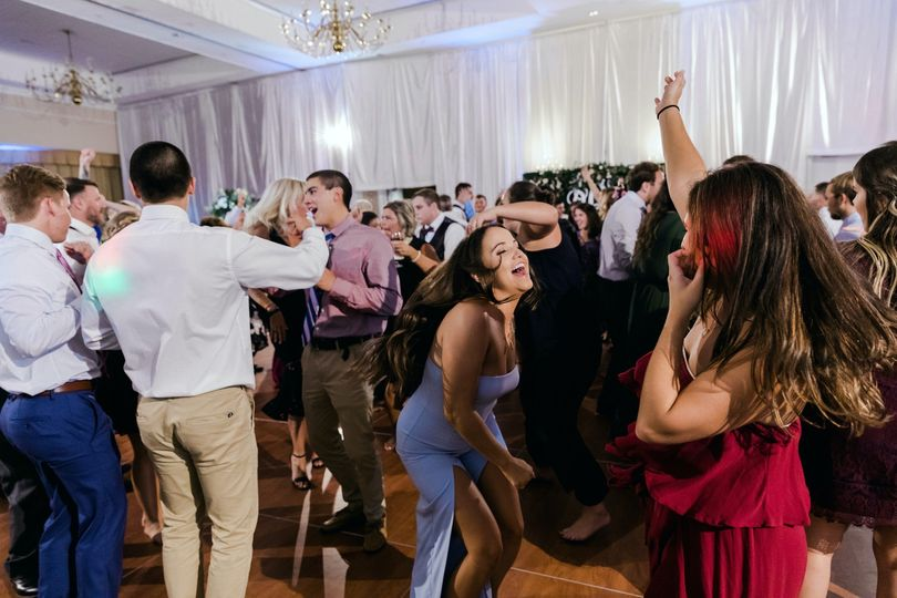 Guests dancing to the music