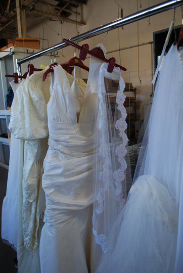 More dresses cleaned