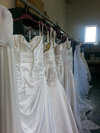 Gowns in process