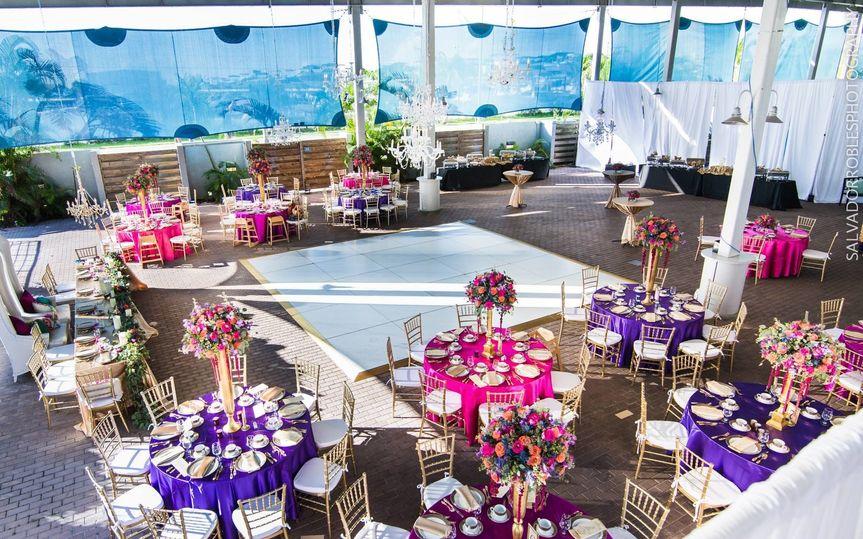 Reception hall tables