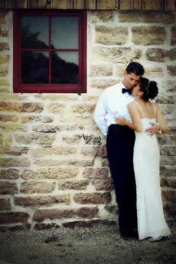 roberta brick wall wedding pic monkey edit