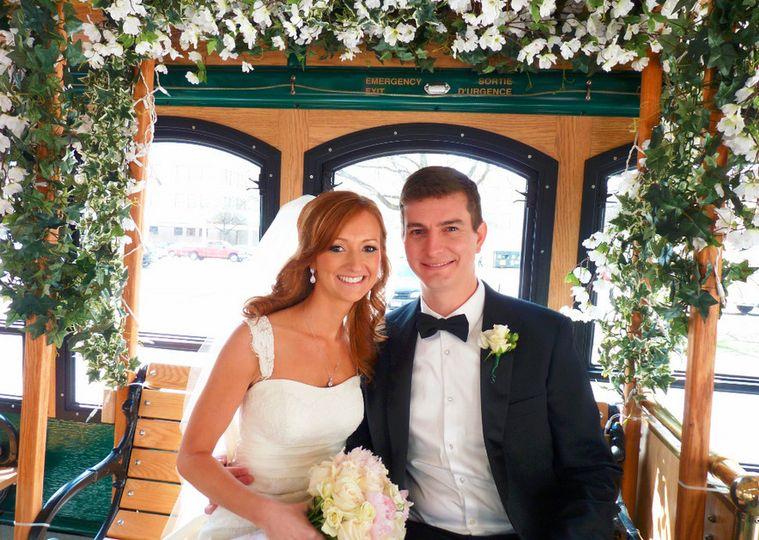 Wedding arch in the trolley