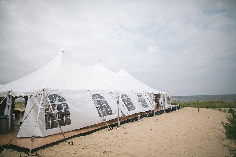 White beach tent