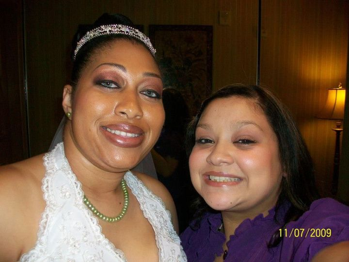 The bride and the wedding planner
