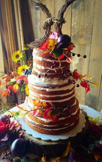 Pumpkin Spice Naked Cake