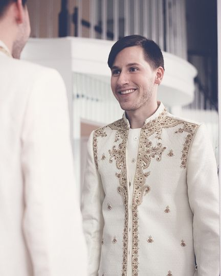 groom getting ready for the best day of his life!
