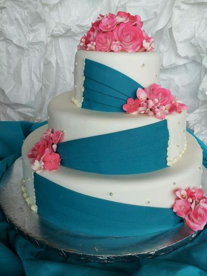 Blue and pink hues