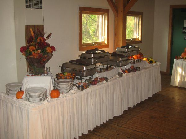 Thomas's Catering - Cobble Stone Farms Fall Themed Wedding