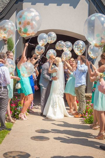 Balloons to celebrate the newlyweds