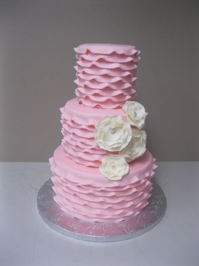 pink ruffle tiered