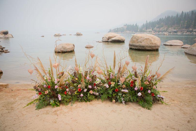 Sand Harbor Floral Altar