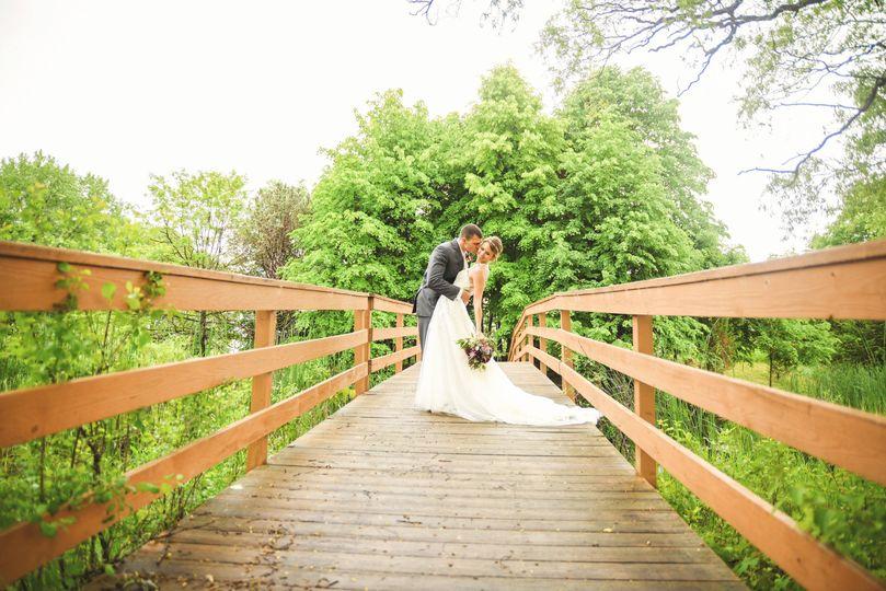 Couple by the bridge
