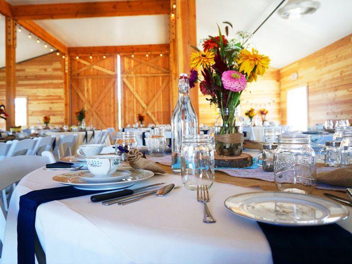 Tmx 1478874373045 Ruggedhorizonbarntableswithvintagechinaandlights   Saint Ignatius, Montana wedding venue