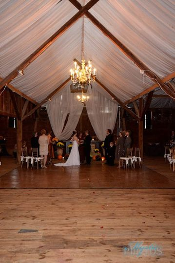 A beautiful ceremony during an ominous storm... Hurricane Sandy was the uninvited guest, so we all...
