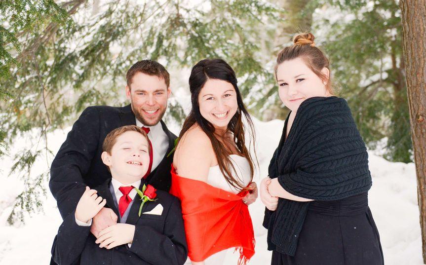 Winter family wedding