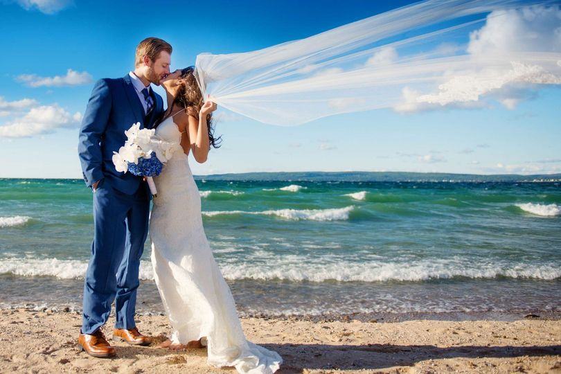 Wedding on the beach | courtesy of LuxLight Photography