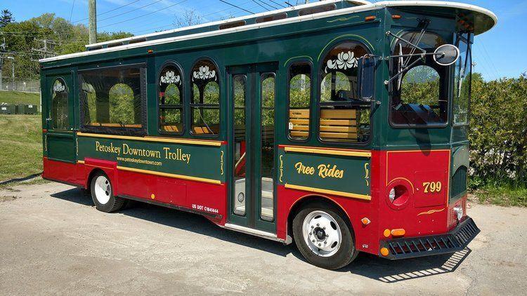 Petoskey trolley in the village