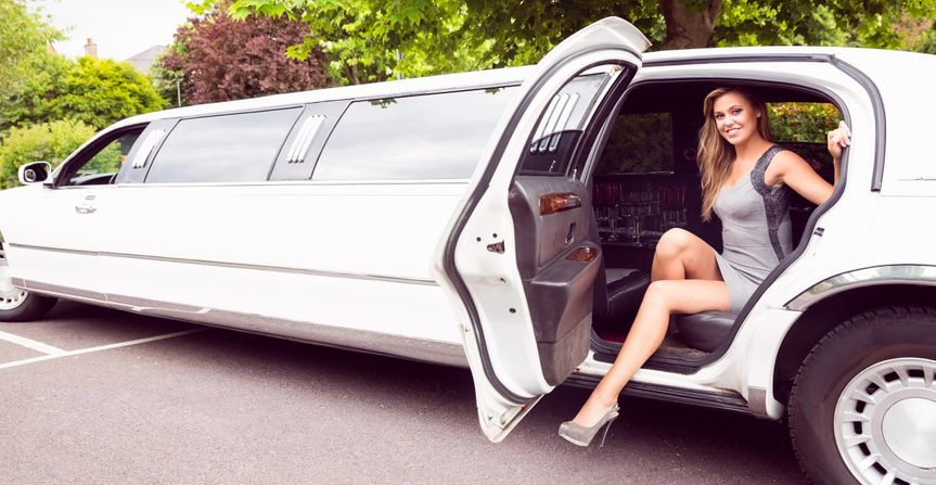 Lady in limo