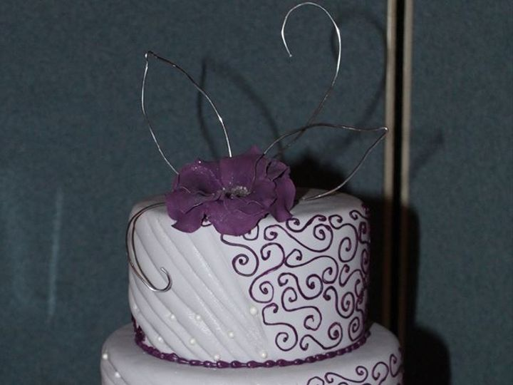 Tmx 1417715469609 Purple Petals Fosston wedding cake