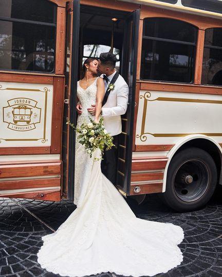 Pearl White Wedding Trolley
