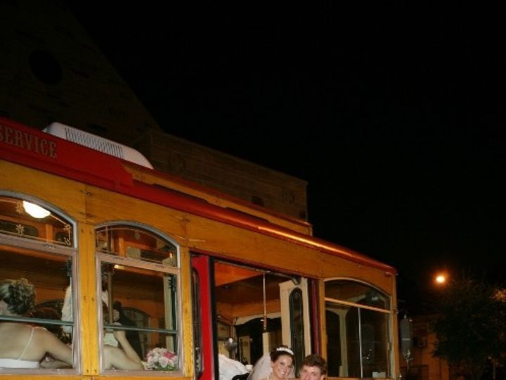 Tmx 1369943312617 Trolley With Wedding Couple Houston, Texas wedding transportation