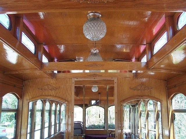 Tmx 1369944060988 Trolley Roof And Chandeliers And Wood Medallions Houston, Texas wedding transportation