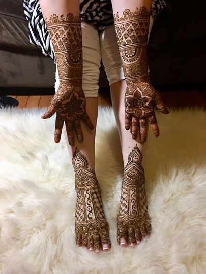 Henna on hands and feet
