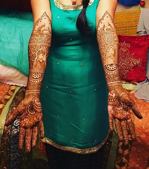 Henna on hands and arms