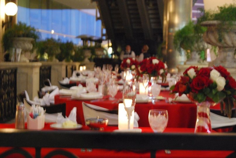 Our Front Patio, overlooks the famous Las Vegas Strip, and can accomodate 40 guests comfortably, 50...