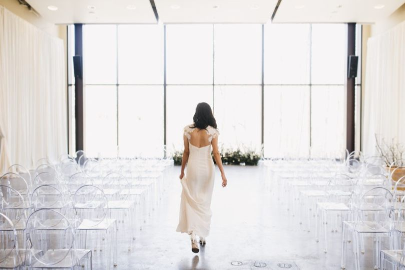 Bride in the wedding venue