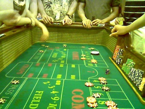 Craps Table @ a Real Casino Party in Pasedena