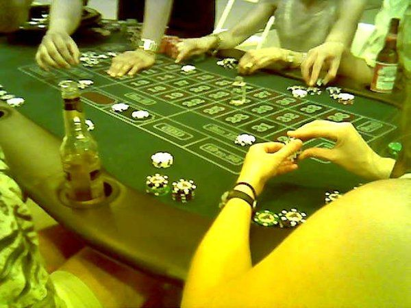 Roulette at a real Casino Rental Party