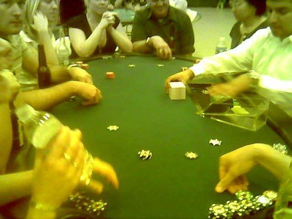Blackjack for 9 players at a real Casino Tournament