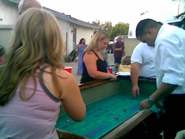 Back Yard Craps  Casino Party