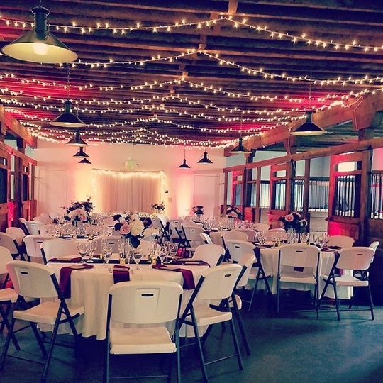 Our canopy lighting at Crawford's Barn in Ranch Cordova, Ca.