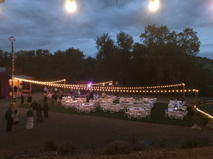 Our market for an outdoor wedding reception.