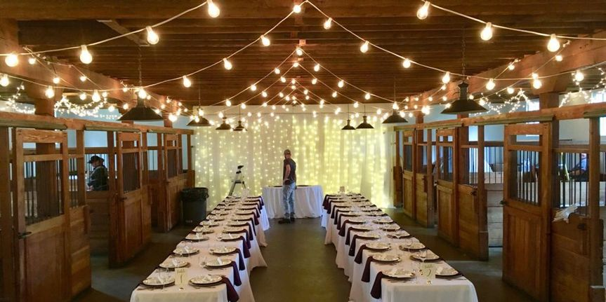 Our market lighting at Crawford's Barn in Rancho Cordova, Ca.
