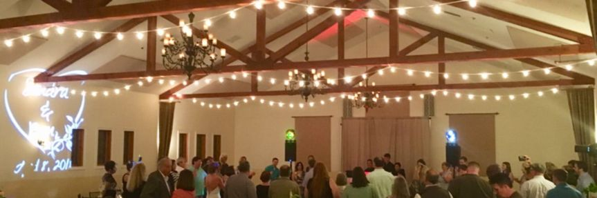 Our string lighting for a wedding reception in Auburn, Ca.