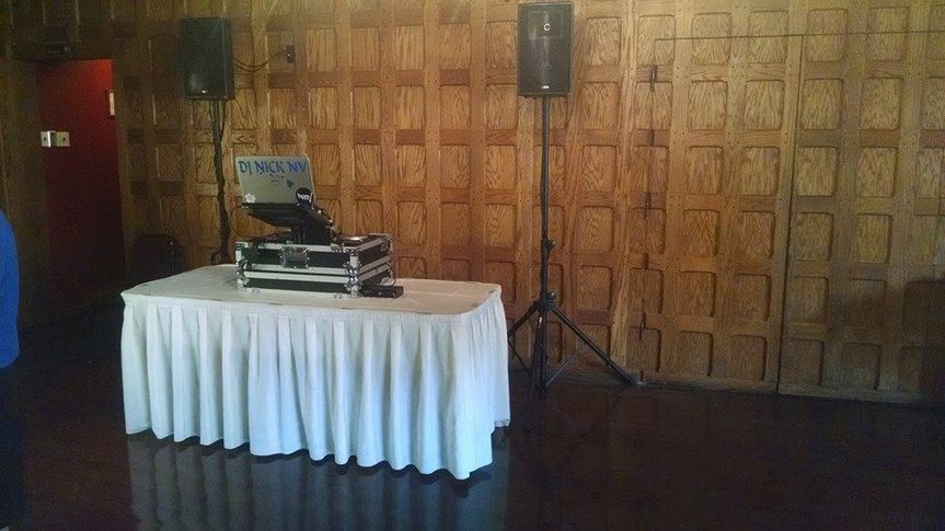 wedding setup at castle mcculoch