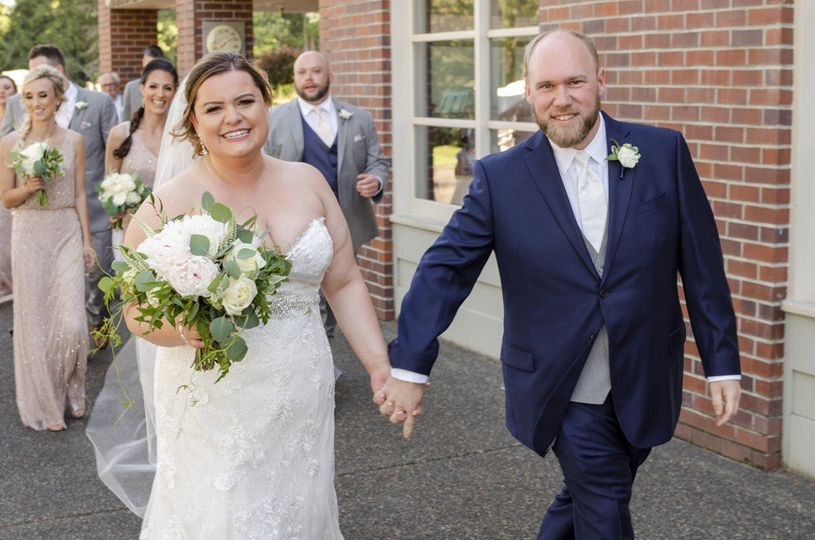 Just Married!! Congratulations!! Floral by Jen's Floral by Jen's Blossoms, Photo courtesy of...