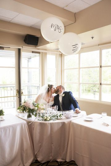 Mr & Mrs!! Floral by Jen's Floral by Jen's Blossoms, Linen Trendy Event Rentals, Photo courtesy of...